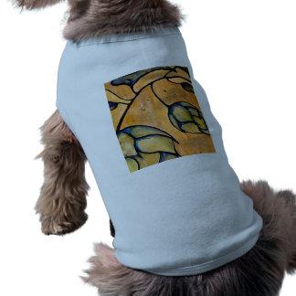 El tanque acanalado del perrito playera sin mangas para perro