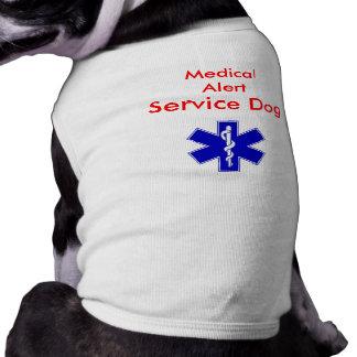El tanque alerta médico del perro del servicio playera sin mangas para perro