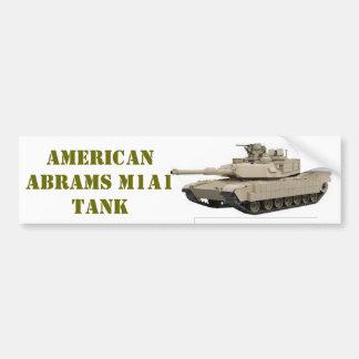 EL TANQUE AMERICANO DE ABRAMS M1A1 PEGATINA PARA AUTO