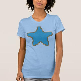 El tanque azul de la estrella del pixel playera
