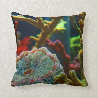 el tanque coralino del acuario de la imagen del ag almohada