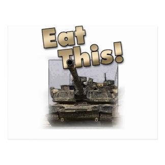 ¡El tanque de Abrams - coma esto! Postal