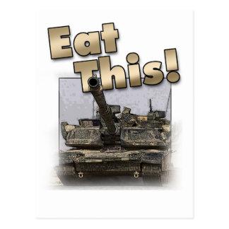 ¡El tanque de Abrams - coma esto! Tarjeta Postal