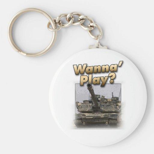 ¿El tanque de Abrams - quiera jugar? Llavero