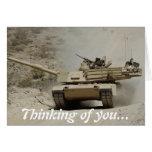 El tanque de Abrams Tarjeta