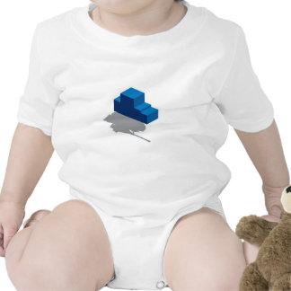 El tanque de batalla de los bloques trajes de bebé