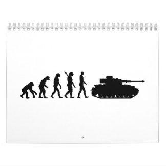El tanque de la evolución calendario