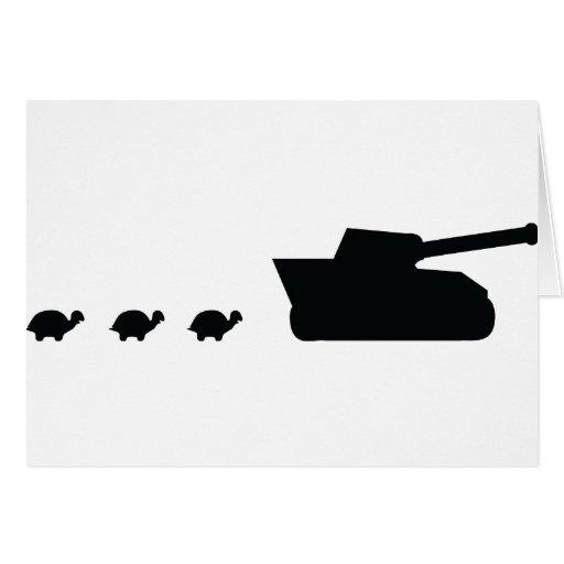 el tanque de la familia e icono felices de las tor tarjetón