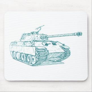 El tanque de la pantera de Panzer V Alfombrillas De Ratones