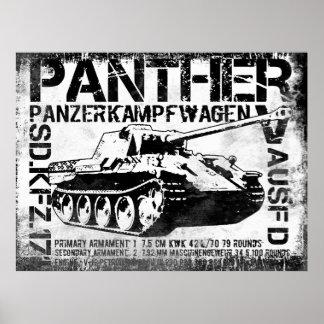 El tanque de la pantera póster