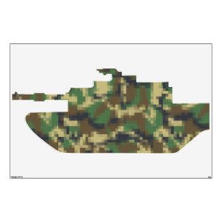 El tanque de los militares del camuflaje del pixel vinilo