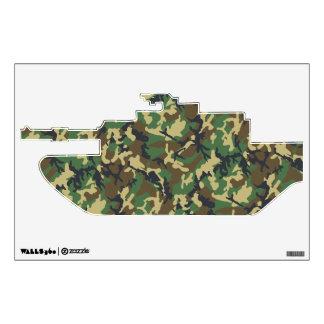 El tanque de los militares del camuflaje vinilo decorativo