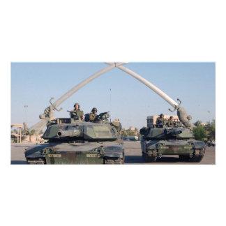 El tanque de M1A1 Abrams Tarjetas Personales