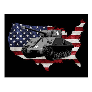El tanque de M4 Sherman Postales