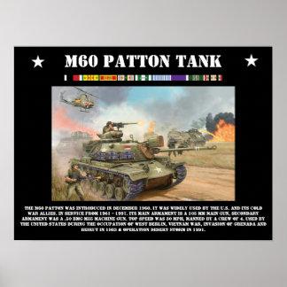 El tanque de M-60 Patton Póster