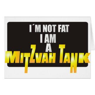 El tanque de Mitzvah Tarjeta De Felicitación