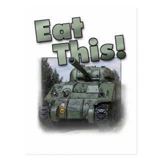 ¡El tanque de Sherman - coma esto! Postal