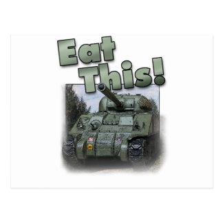 ¡El tanque de Sherman - coma esto! Tarjeta Postal