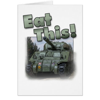 ¡El tanque de Sherman - coma esto! Tarjetón