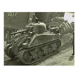 El tanque   de Sherman de la Segunda Guerra Mundia Postales