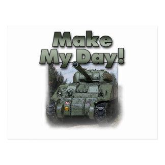 ¡El tanque de Sherman - haga mi día! Tarjeta Postal