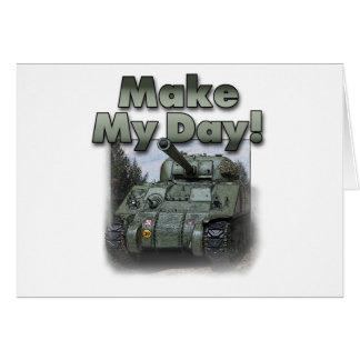 ¡El tanque de Sherman - haga mi día! Tarjetas