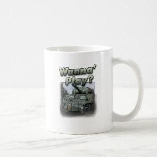 ¿El tanque de Sherman - quiera jugar? Taza Clásica