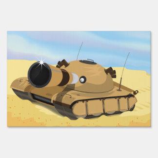 El tanque del desierto letreros