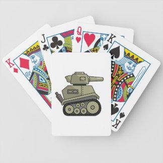 El tanque del dibujo animado cartas de juego