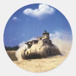 El tanque del M3 Lee en ejercicios de formación en Pegatina Redonda