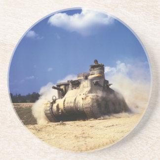 El tanque del M3 Lee en ejercicios de formación en Posavaso Para Bebida