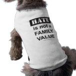 El tanque del mascota de la familia camisetas de mascota