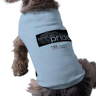 El tanque del mascota de la nube de la palabra playera sin mangas para perro