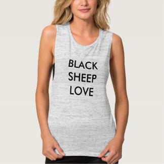 El tanque del músculo del amor de las ovejas playera de tirantes anchos