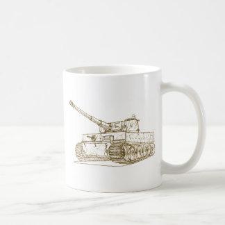 El tanque del tigre 1 de Panzer VI Taza Básica Blanca