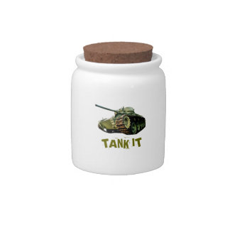 El tanque él tarro jarra para caramelo