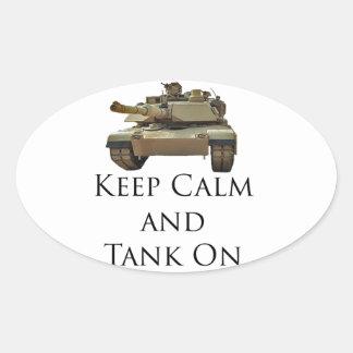 El tanque ENCENDIDO Pegatina Óval Personalizadas