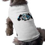 El tanque estático del perrito del estallido camisa de perro