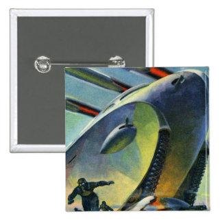 El tanque estupendo retro de Sci Fi WWI del kitsch Pin