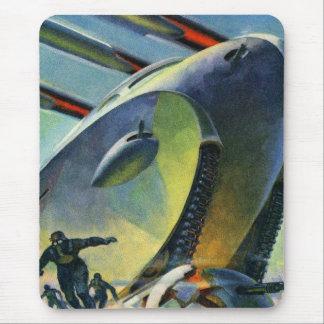 El tanque estupendo retro de Sci Fi WWI del kitsch Alfombrillas De Ratón