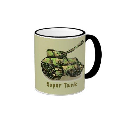 El tanque estupendo taza a dos colores