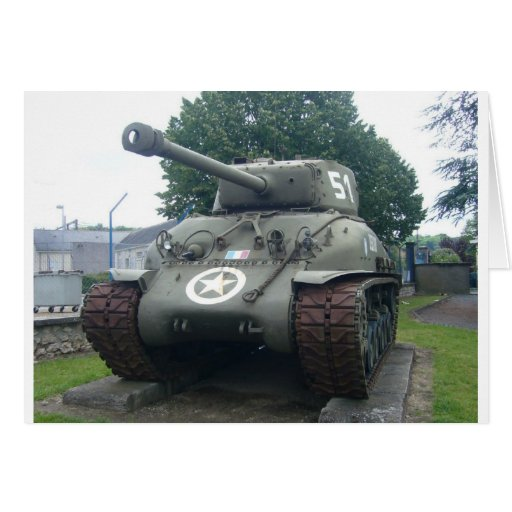 El tanque francés tarjeta de felicitación