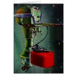 El tanque ideal del rojo del motor del barco de tarjeta de felicitación