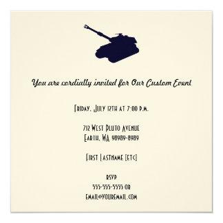 """El tanque invitación 5.25"""" x 5.25"""""""