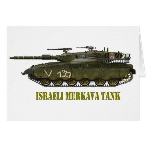 EL TANQUE ISRAELÍ DE MERKAVA TARJETA