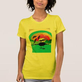 el tanque libre de la puesta del sol del océano de tee shirt
