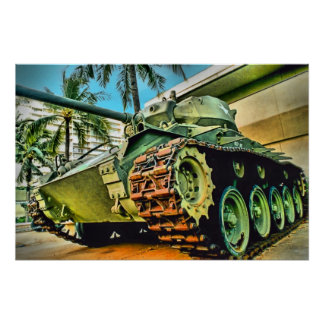 El tanque M24 Póster