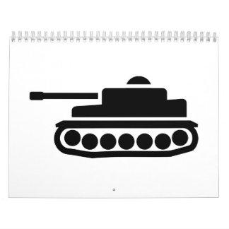 El tanque militar calendarios