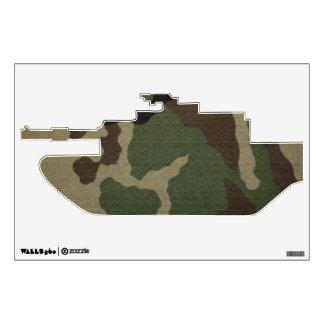 El tanque militar camuflado 1 vinilo adhesivo