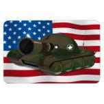El tanque militar iman flexible